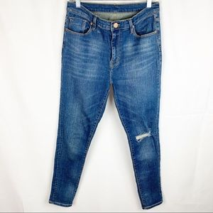 BDG UO Twig High rise distressed blue jeans 28